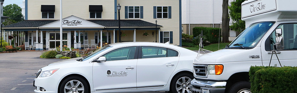 Professional, private transportation at The Elms, Westerly RI