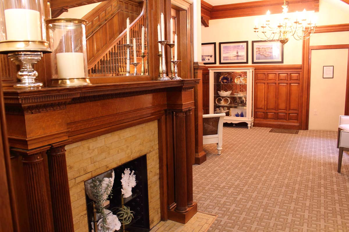 Beautiful front hall in our elegantly restored Victorian.