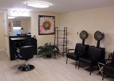The Salon at The Elms provides services for residents at our main building.