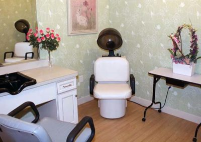 Salon services for our memory care residents