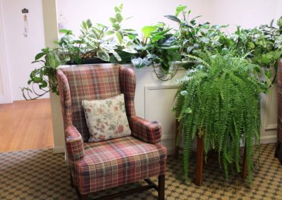 Comfortable lounges for residents and visitors.