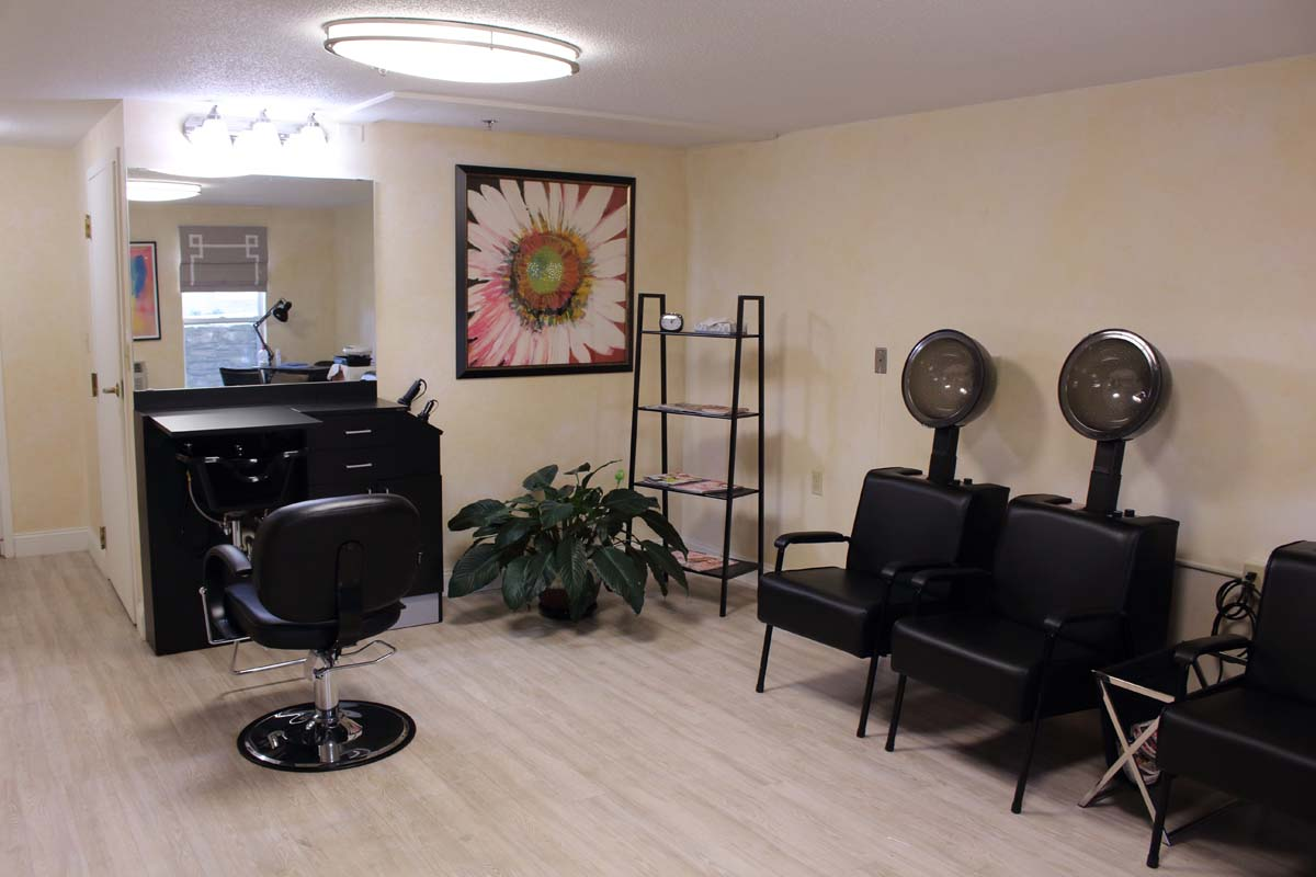 The Salon at The Elms provides services for residents at our main building