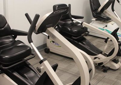 The exercise room for independent and assisted living residents.